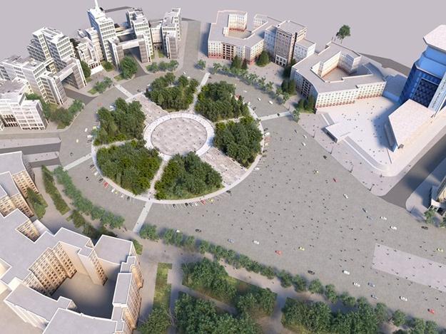 На площади Свободы появится сухой фонтан