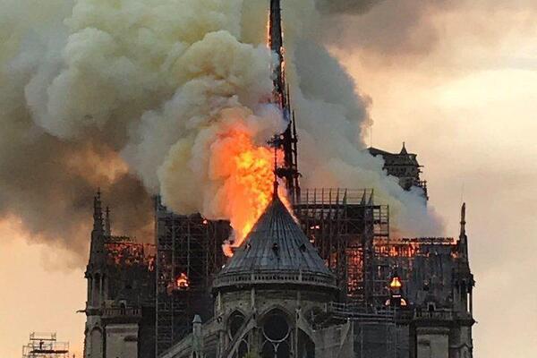 В Парижі горить Собор Богоматері