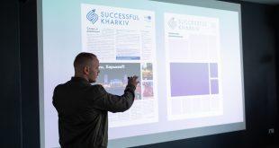 """Дизайнер городской газеты """"Successful Kharkiv"""" принимает участие в создании логотипа хоккейной команды"""