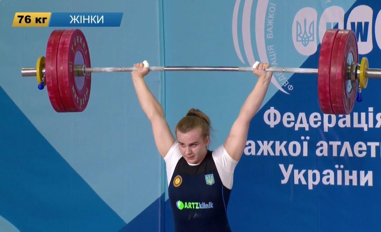 Харьковская штангистка с рекордом выиграла чемпионат Украины