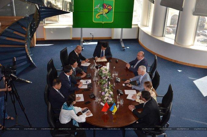Харьков будет развивать сотрудничество с китайским городом Аньшань