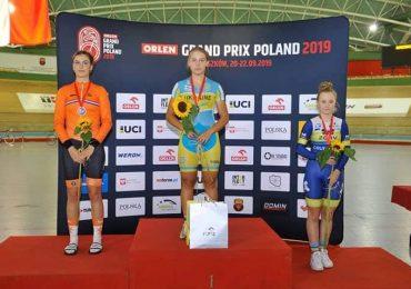 Харьковская велосипедистка выиграла трековый турнир (фото)