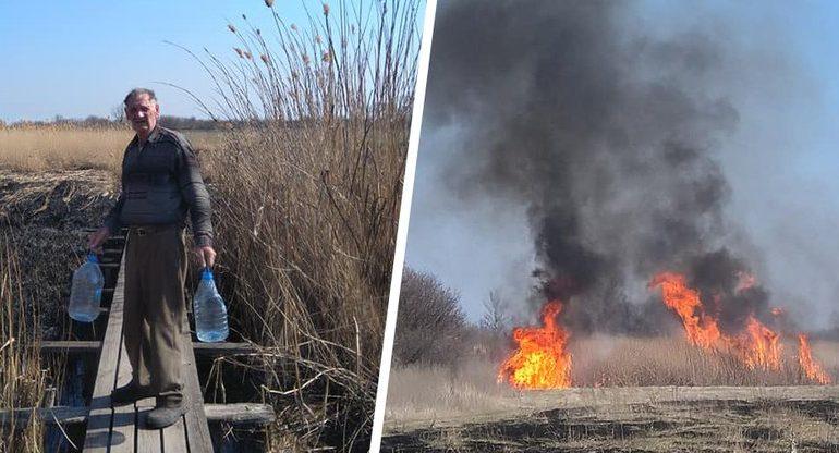 Пенсіонер з Харківщини врятував від пожежі міст між двома селами